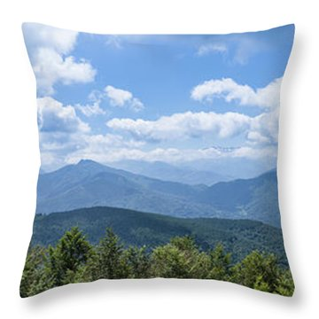 Throw Pillow featuring the photograph Panorama Of The Foothills Of The Pyrenees In Biert by Semmick Photo