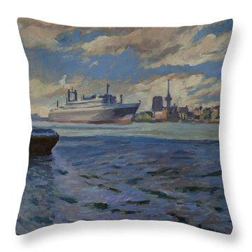 Panorama Rotterdam Throw Pillow