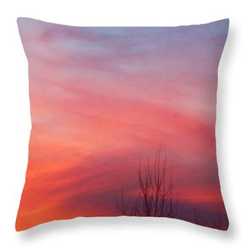 Panorama Sunset  Throw Pillow