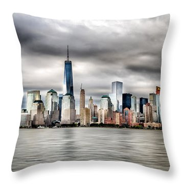 Throw Pillow featuring the photograph Panoramic New York City by Rafael Quirindongo