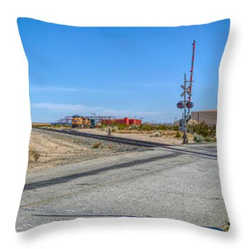 Panoramic Railway Signal Throw Pillow
