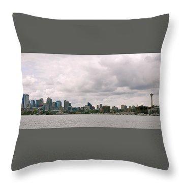 Panoramic Seattle Throw Pillow