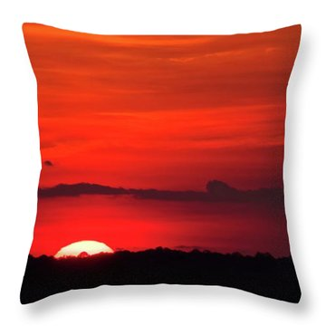 Panoramic Sunset Throw Pillow
