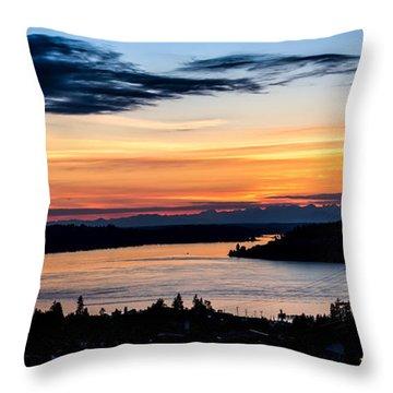 Panoramic Sunset Over Hail Passage  Throw Pillow