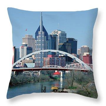Panoramic View Of Bridge Throw Pillow