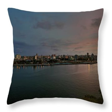 Panoramic View Of Havana From La Cabana. Cuba Throw Pillow