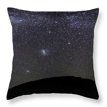 Panoramic View Of The Milky Way Throw Pillow by Luis Argerich