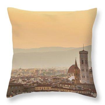 Panorama Of Florence Throw Pillow