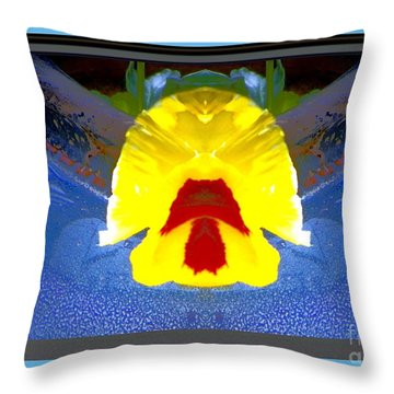 Throw Pillow featuring the photograph Pansey 1 by Shirley Moravec