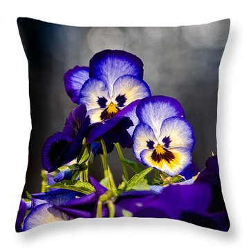 Pansies Throw Pillow by Christopher Holmes