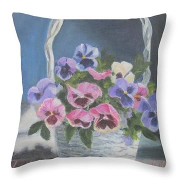 Pansies For A Friend Throw Pillow