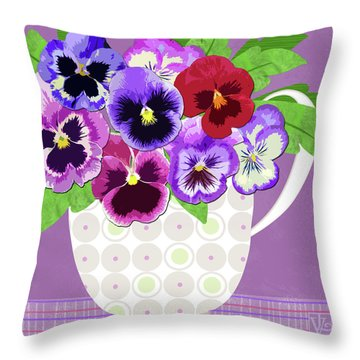 Pansies Stand For Thoughts Throw Pillow