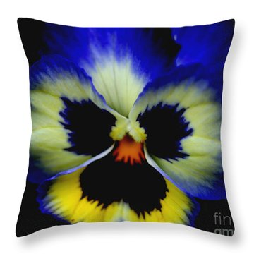 Pansy Face Throw Pillow