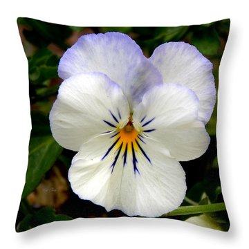 Pansy Face Throw Pillow
