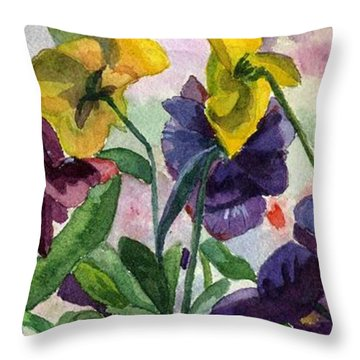 Pansy Field Throw Pillow by Lynne Reichhart