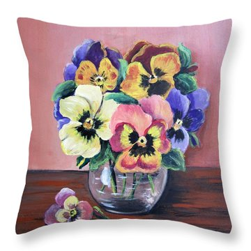 Pansy For Mother Throw Pillow