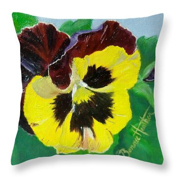 Pansy No. Ten Throw Pillow