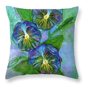 Pansy On Water Throw Pillow