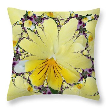 Pansy Swirls Throw Pillow
