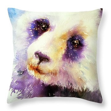 Pansy The Giant Panda Throw Pillow