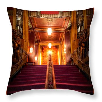 Pantages Theater's Grand Staircase Throw Pillow