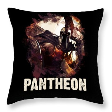 Pantheon - League Of Legends Throw Pillow