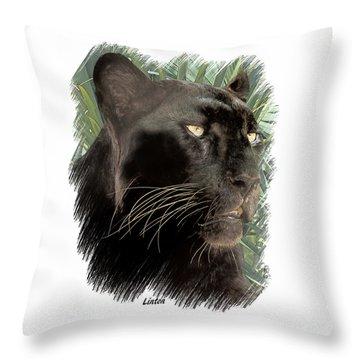 Panther 8 Throw Pillow
