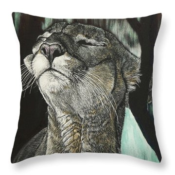 Panther, Cool Throw Pillow