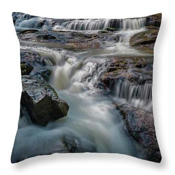 Panther Creek Upper Falls Throw Pillow