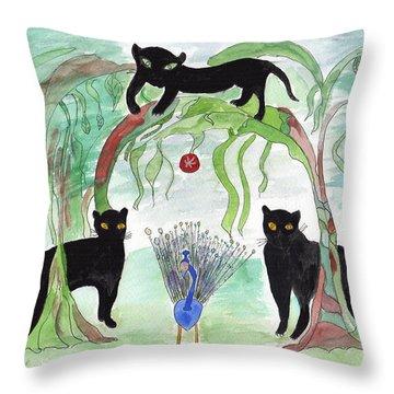 Panther Pathway Throw Pillow