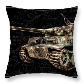 Panzer Tiger I Side Bk Bg Throw Pillow