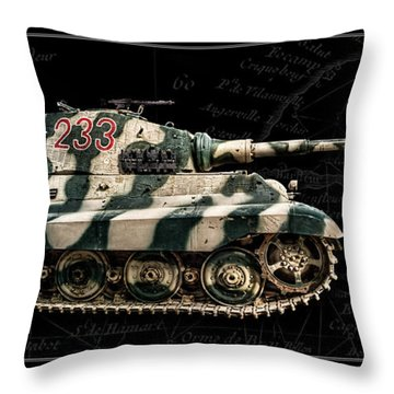 Panzer Tiger II Side Bk Bg Throw Pillow