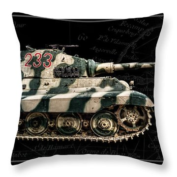 Panzer Tiger II Side Bk Bg Throw Pillow