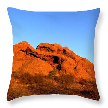 Throw Pillow featuring the photograph Papago Park 2 by Michelle Dallocchio
