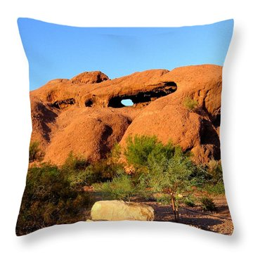 Throw Pillow featuring the photograph Papago Park by Michelle Dallocchio