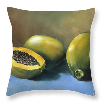 Papaya Throw Pillow by Han Choi - Printscapes