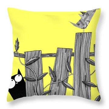 Paper Bird Throw Pillow