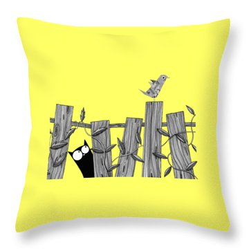 Paper Bird Throw Pillow by Andrew Hitchen