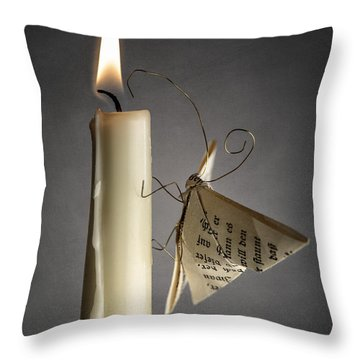 Paper Butterfly Throw Pillow