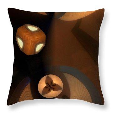 Paper Lamps Throw Pillow