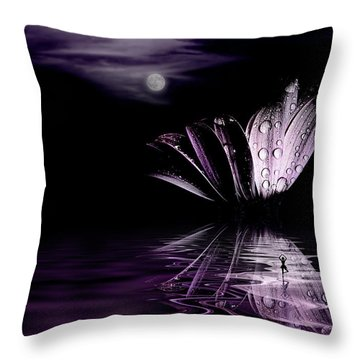 paper Moon Throw Pillow by John Poon