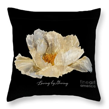 Throw Pillow featuring the photograph Paper Peony Loving By Giving by Diane E Berry