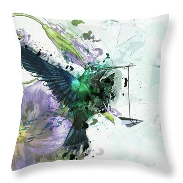 Paper Planes And Promises Throw Pillow by Cameron Gray