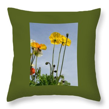 Paper Poppies Throw Pillow