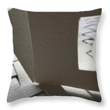 Paper Structure-3 Throw Pillow