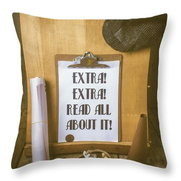 Paperboy Press Stand Throw Pillow