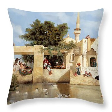 Papere E Cane Throw Pillow