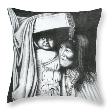 Papoose Throw Pillow by Lawrence Tripoli