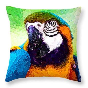 Pappagallo - Parrot Ara Ararauna Throw Pillow