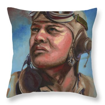 Pappy Boyington Throw Pillow